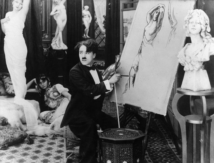 Charlot artiste peintre