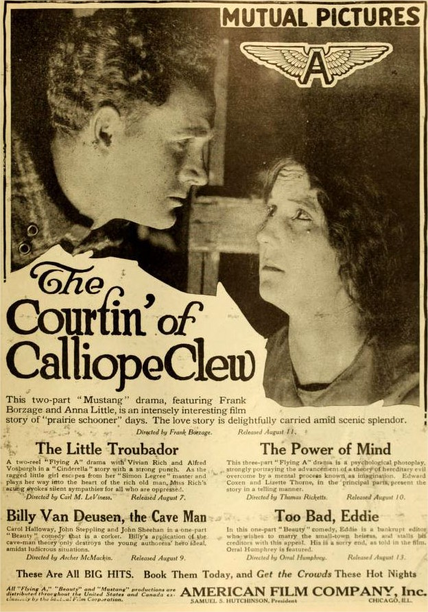 1916 The Courtin' of Calliope Clew