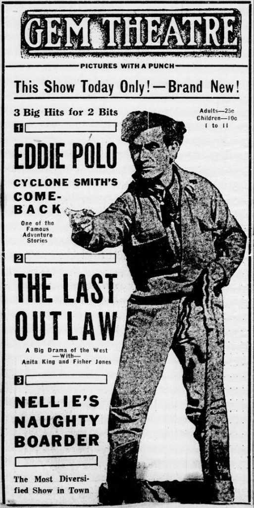 1919 The Last Outlaw