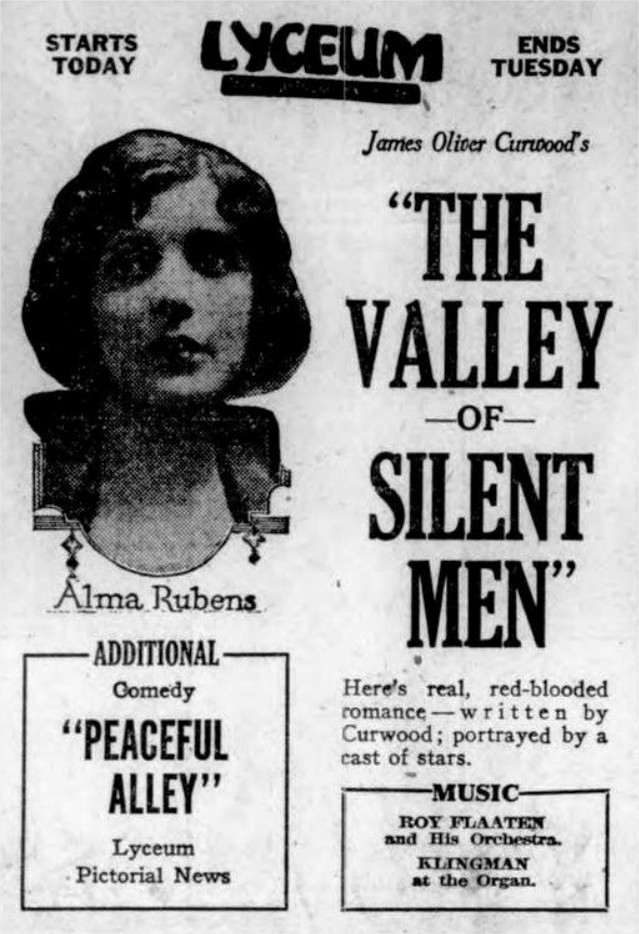 1922 The Valley of Silent Men