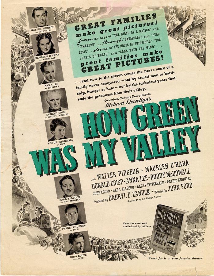 1941 Qu'elle était verte ma vallée