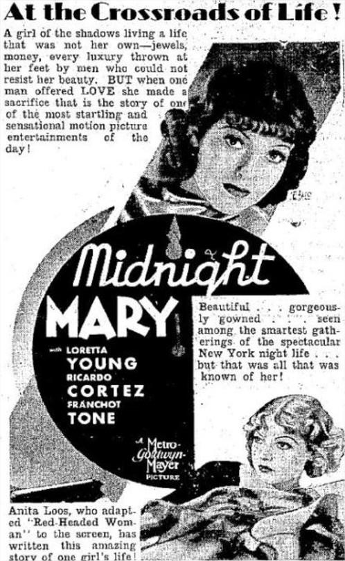1933 Rose de minuit
