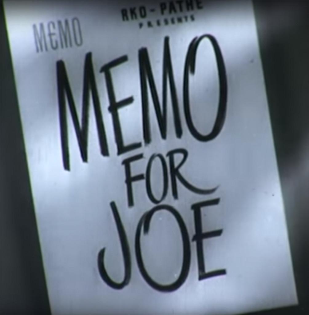 1944 Memo for Joe