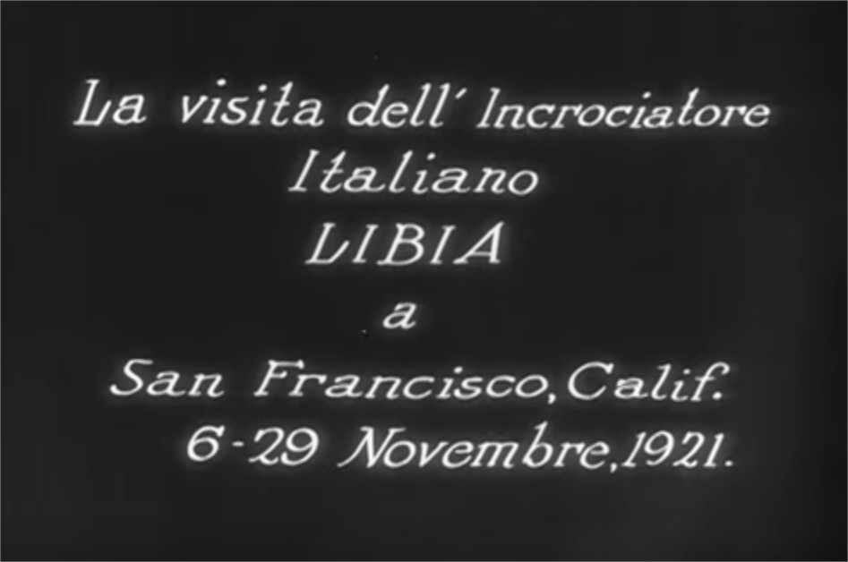 1921 La Visita dell' incrociatore Italiano Libia