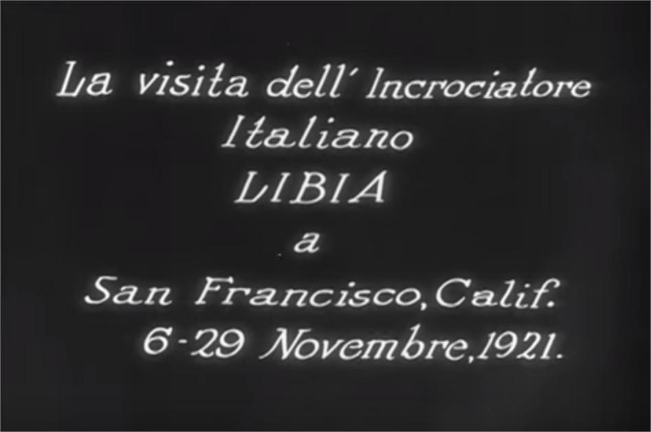 1921 La Visita dell' incrociatore Italiano Libia