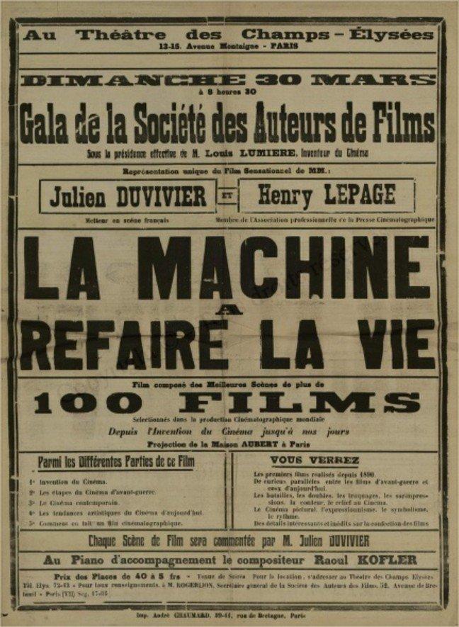 1924 La Machine à refaire la vie