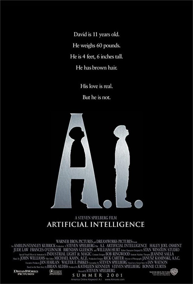 2001 A.I. intelligence artificielle